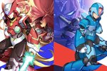6+boys albert_w_wily android arm_cannon bald blonde_hair blue_eyes colonel commentary energy_sword facial_hair gloves green_eyes grin helmet highres holding holding_weapon jie_laite long_hair male_focus multiple_boys mustache red_eyes rockman rockman_x scar scar_across_eye serious shoulder_cannon sigma smile sword vava very_long_hair weapon white_gloves x_(rockman) zero_(rockman)