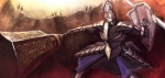 armor demon's_souls garl_vinland mace ra_(pixiv120326) shield solo souls_(from_software) sword weapon