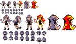 1girl bicycle black_dress black_footwear blue_(pokemon) dress fishing fishing_rod ghost-missingno gloves grey_hair ground_vehicle hand_on_hip holding holding_fishing_rod looking_at_viewer looking_away multiple_views official_style one_eye_closed partially_colored pixel_art poke_ball poke_ball_(generic) pokemon pokemon_(game) pokemon_rgby pokemon_rgby_beta prototype red_hair riding shoes short_dress sprite sprite_sheet standing transparent_background walking white_gloves yellow_skin