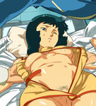 1boy 1girl aqua_eyes aqua_hair assisted_exposure bare_shoulders bed belt boy_on_top breasts breasts_apart censored cowboy_shot dress fa_yuiry gloves gundam hetero indoors kamille_bidan looking_down lying medium_breasts military military_uniform mosaic_censoring navel no_bra no_panties o/p.com on_back on_bed one_eye_closed open_clothes open_dress parted_lips pillow pubic_hair pussy short_dress short_hair sleeveless sleeveless_dress sweat turtleneck underboob undressing uniform volvox white_gloves wince zeta_gundam